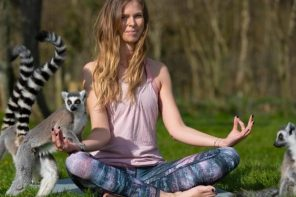 English hotel offers yoga with Lemurs