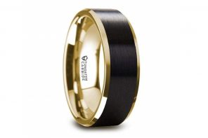 New trend: black tungsten wedding bands