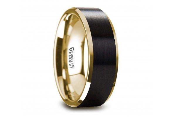 black tungsten, wedding band