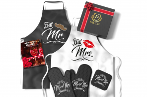 Best Bridal Shower Gift: Mr & Mrs Aprons For the Happy Couple